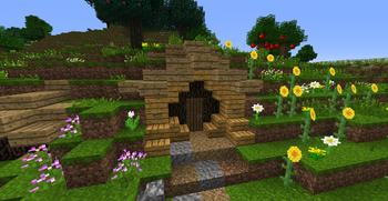 Hobbit hole door