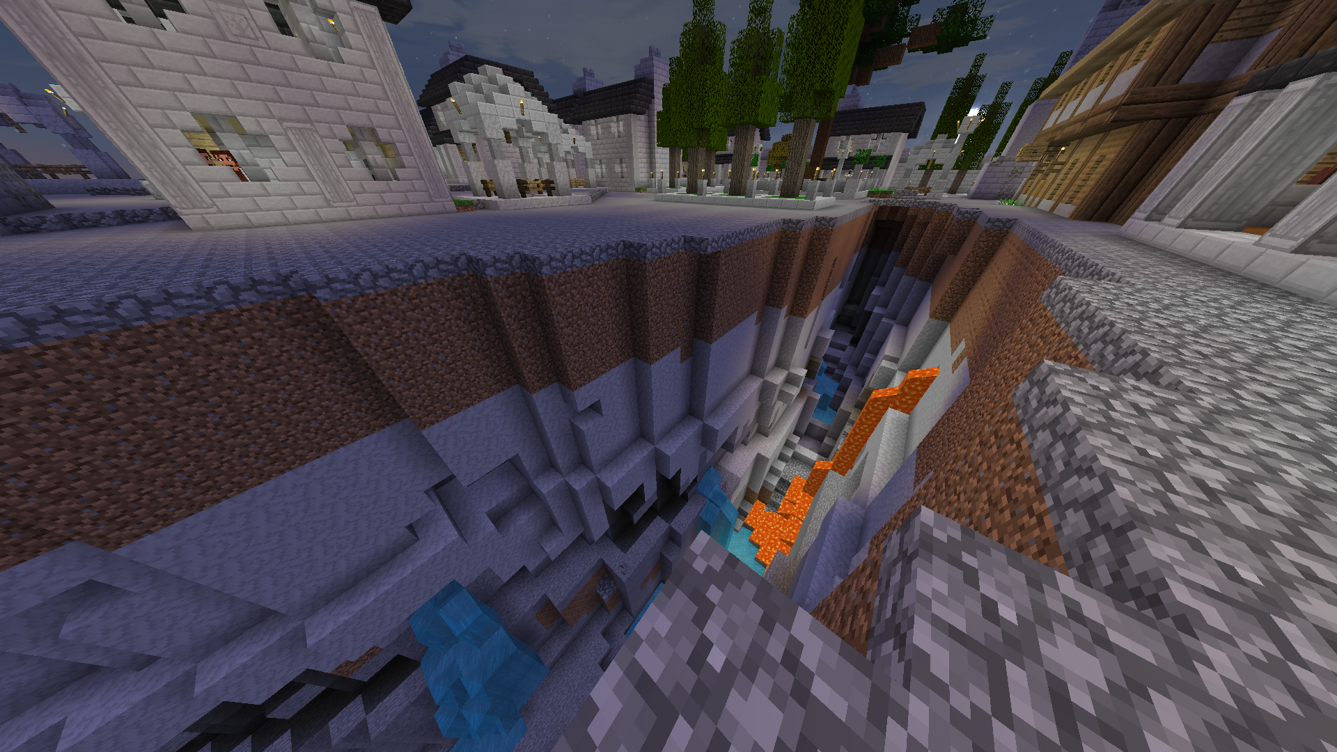 Big hole in Gondor city   The Lord of the Rings Minecraft