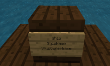 Harda movecraft ship sign
