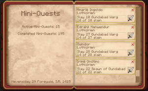 4 of 5 Galadhrim Kill Quests