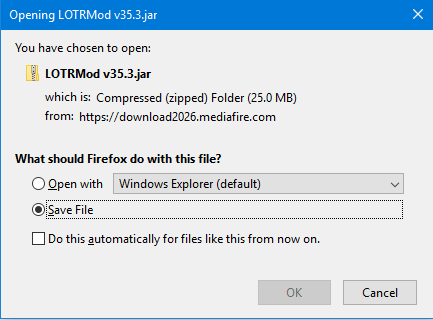 Wrong file format upon download