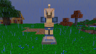 Armor stand with armor