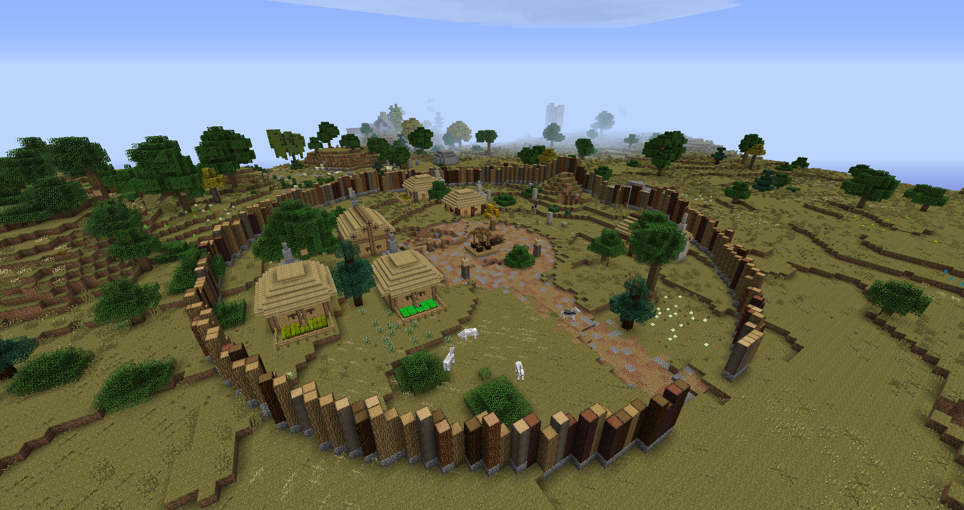 D 250 Nedain Village The Lord Of The Rings Minecraft Mod