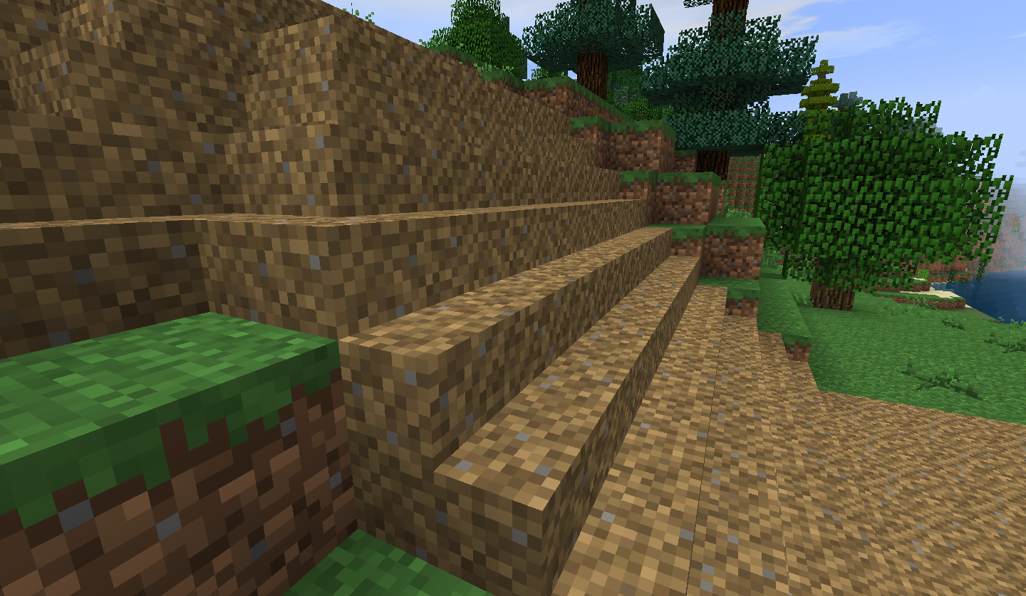 Road Climbing A Slope In Anduin Vales With Dirt Path Stair Blocks Side  View.png