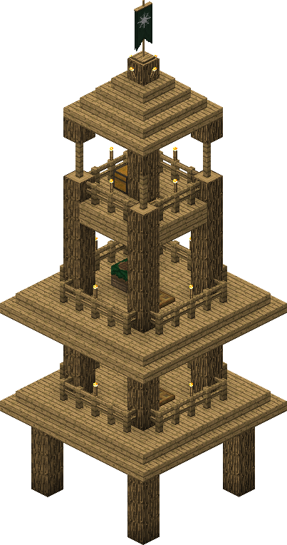 Ranger Watchtower The Lord Of The Rings Minecraft Mod Wiki
