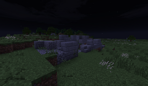 Small Stone Ruins - Wall at night PB28