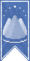蓝色山脉的旗帜