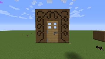 Doorframe Carving Door