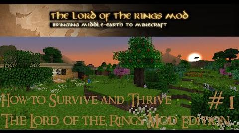 "Minecraft Tutorials E01 ""How to Survive Lord of the Rings Mod"""