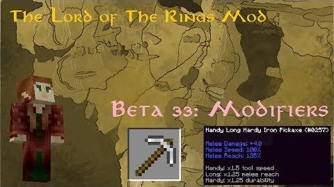 The Lord of the Rings Mod Beta 33 Modifiers