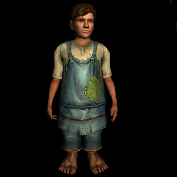 Common Short-sleeved Tunic and Pants hobbit