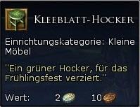Kleeblatt-Hocker Tooltipp