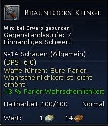 Braunlocks Klinge