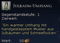 Julbaum-Umhang Tooltipp