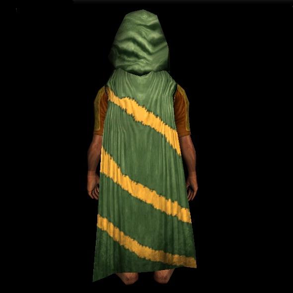 Rugged Rock-climber's Hooded Cloak hobbit