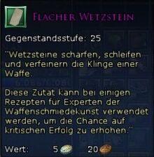 Flacher Wetzstein