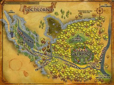 Lothlorien map
