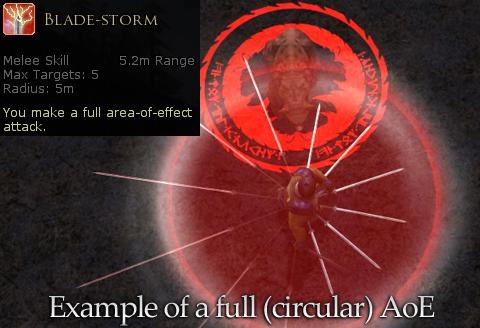 Blade-storm 攻撃範囲