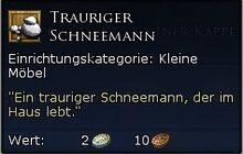 Trauriger Schneemann Tooltipp