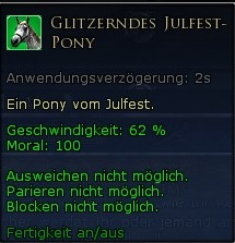 Glitzerndes Julfest-Pony Tooltipp