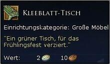 Kleeblatt-Tisch Tooltipp