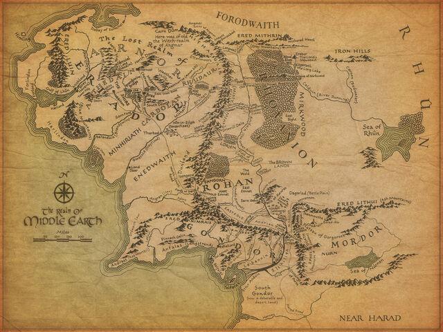 中つ国地図