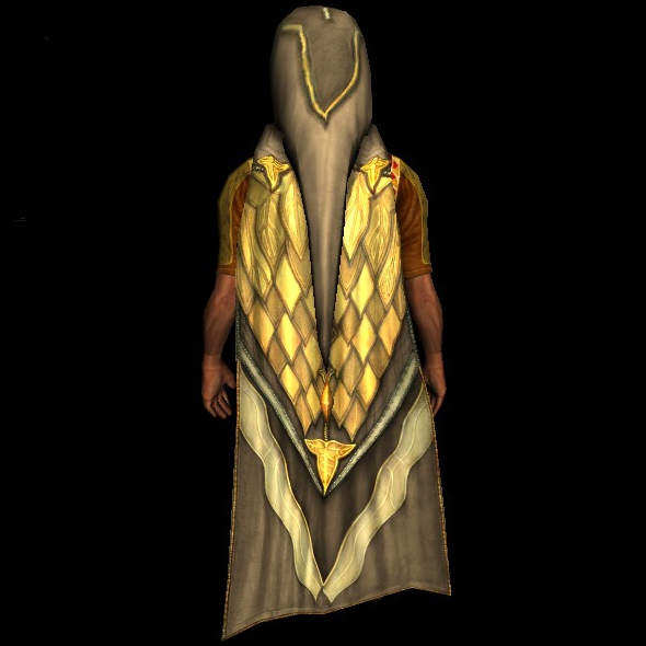 Hooded Cloak of the Mallorn hobbit