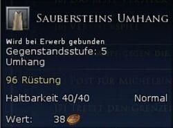 Saubersteins Umhang