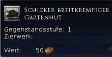 Schicker Breitkrempiger Gartenhut