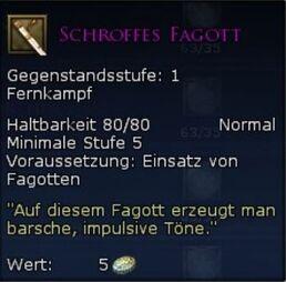 Schroffes Fagott