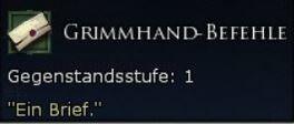 Grimmhand-Befehle