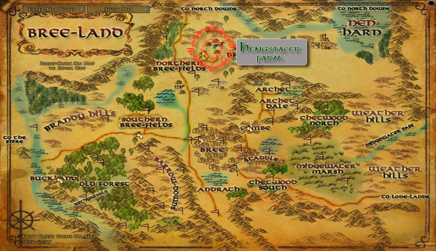 breehorsemappng. image  breehorsemappng  lord of the rings online wiki