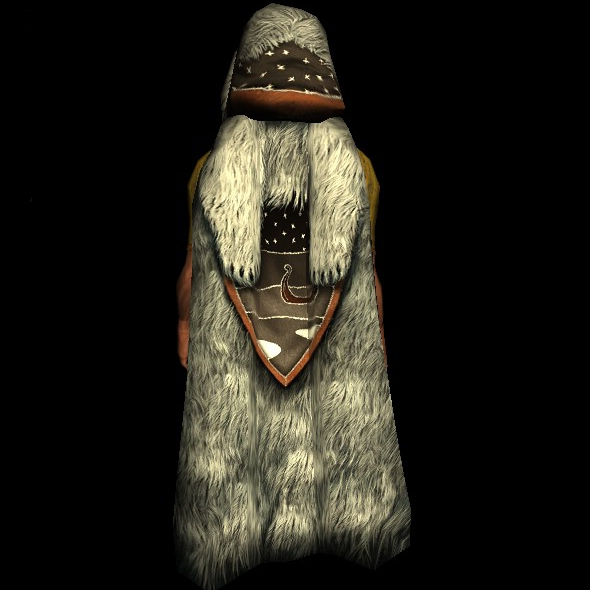 Bearskin Winter Cloak hobbit