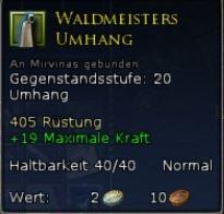 Waldmeisters Umhang