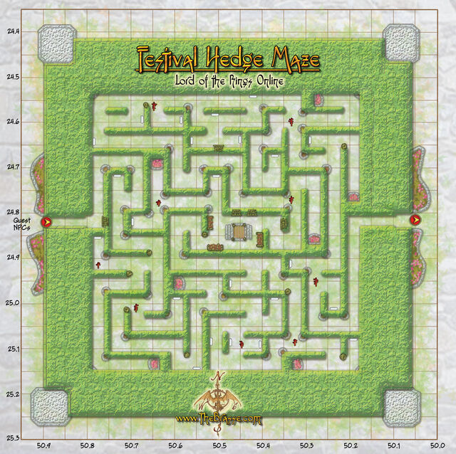 The Hedge Maze Map