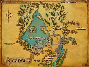 Evendim 地図