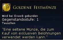 Goldene Festmünze