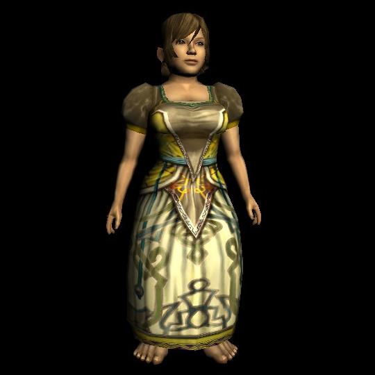 Exquisite Short-sleeved Dress hobbit
