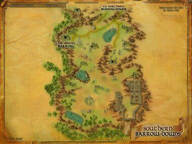 Southern Barrow-downs 地図