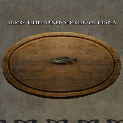 Tricky three-spined stickleback trophy s