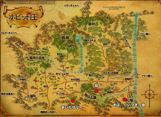 鶏小屋から逃げる地図