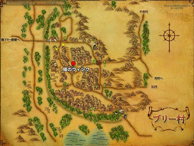 鶏小屋から逃げる:ブリー郷地図2