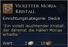 Violetter Moria-Kristall Tooltipp