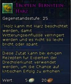 Tropfen Bernstein-Harz