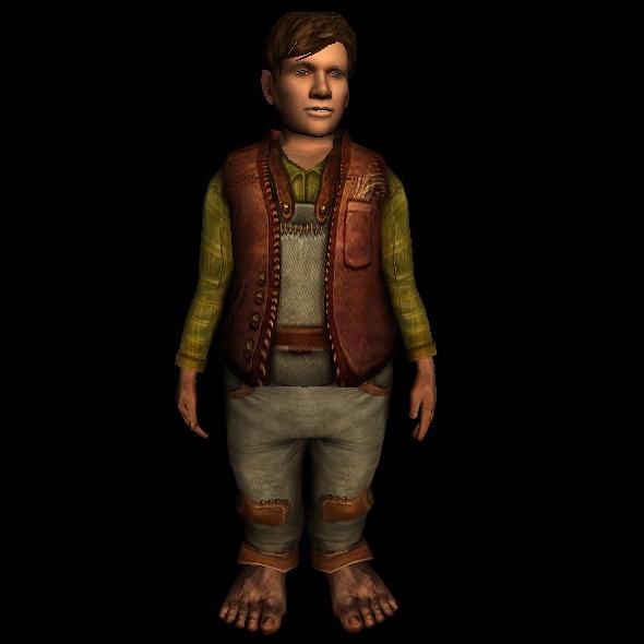 Well-worn Tunic and Pants hobbit