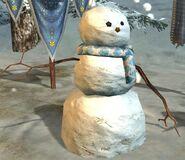 Hutloser Schneemann