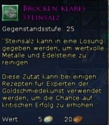 Brocken Klares Steinsalz