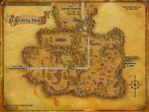 Flaming Deeps map