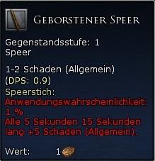 Geborstener Speer