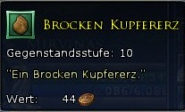 Brocken Kupfererz